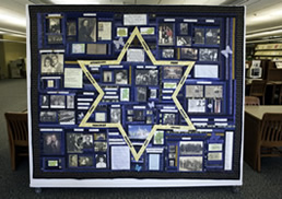 Photograph of the Holocaust Quilt in Charleston County Public library